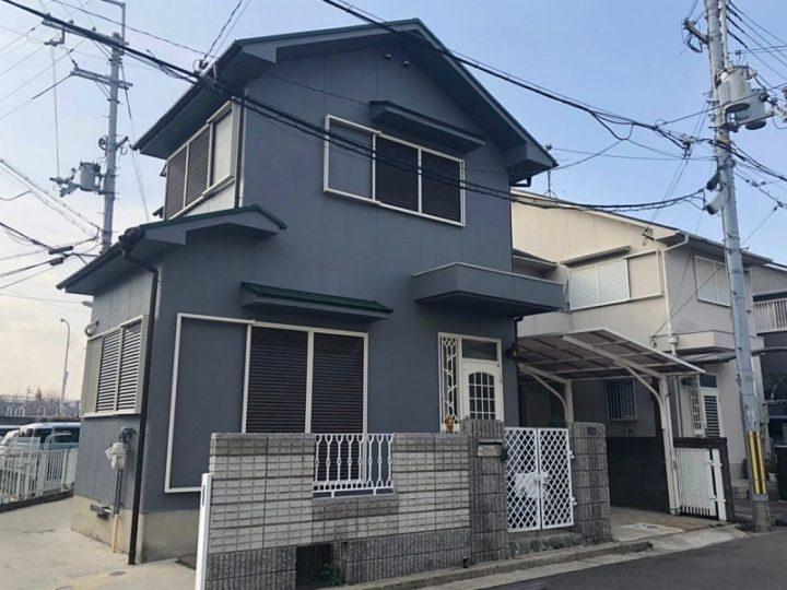 台風による外壁破損、外壁・屋根塗装 堺市 U様邸
