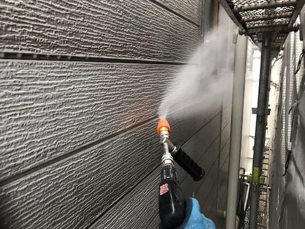 外壁塗装 グレー部分①