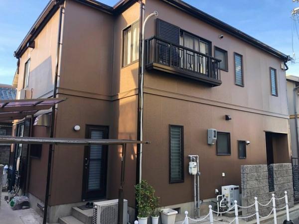築17年 カラーベスト屋根の塗装と外壁の色替え 堺市K様邸