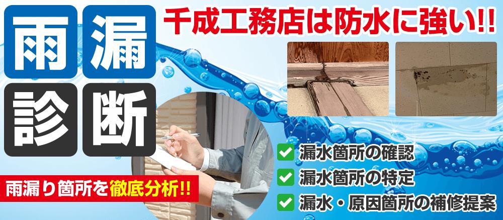 堺市の雨漏り診断