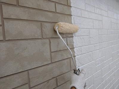 外壁塗装(サイディング面)下塗り