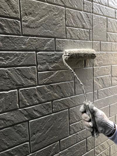 外壁塗装(サイディング面)上塗り