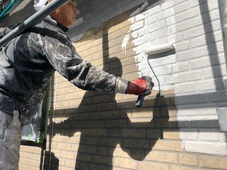 外壁 シーラー下塗り