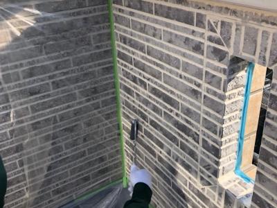 外壁補修後 マーブルトーン工法