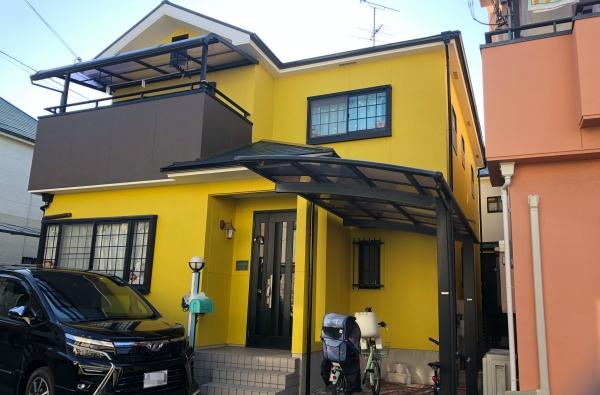 カラーシミュレーションと色見本板で外壁塗装の色選びをサポート 堺市M様