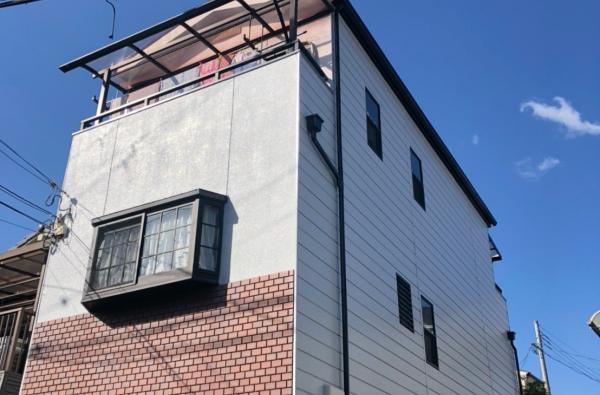 バルコニーの雨漏り修理と一緒に、外壁塗装と屋根塗装 堺市O様
