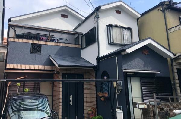 屋根修理をきっかけにカラーシミュレーションで2色に塗り替え 堺市O様