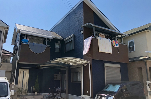 後悔したくない外壁の色選びでイメージ通りの仕上がり! 屋根外壁塗装 堺市K様邸