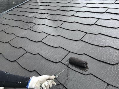 屋根塗装 仕上げ2回目
