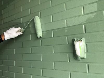 外壁塗装(1階)仕上げ2回目