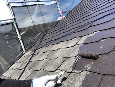 屋根塗装 仕上げ1回目