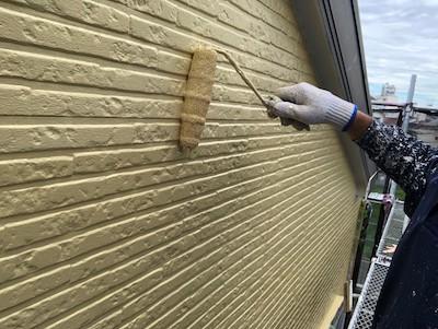 外壁塗装(2階)仕上げ2回目