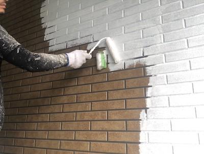 外壁塗装(1階)下塗り