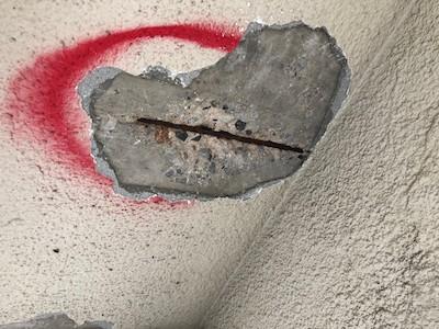 外壁爆裂欠損部