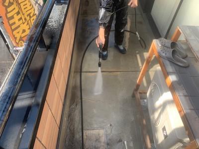 高圧洗浄 バルコニー