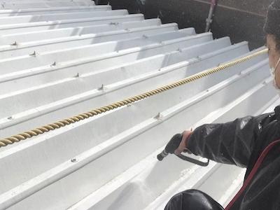 高圧洗浄 折半屋根