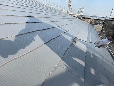 スレート屋根塗装 上塗り2回目