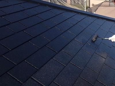屋根塗装 上塗り2回目