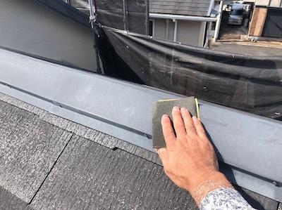 屋根板金 ケレン下地処理