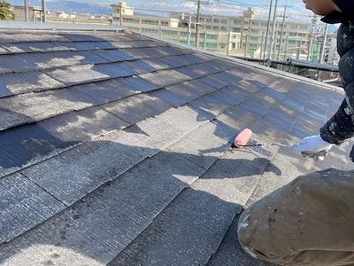 スレート屋根塗装 下塗り