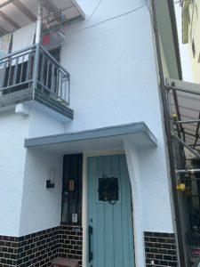 堺市北区 外壁塗装 庇 板金 腐食