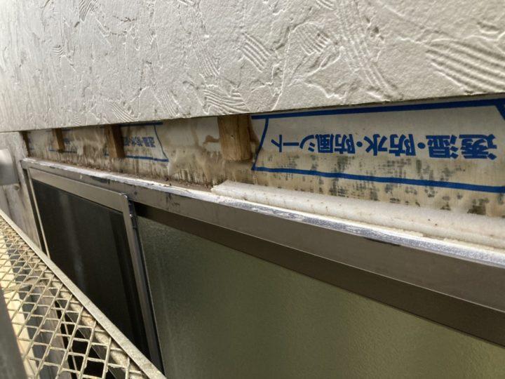 サッシ廻りの外壁材解体