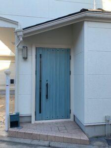 外壁塗装 玄関ドア 堺市
